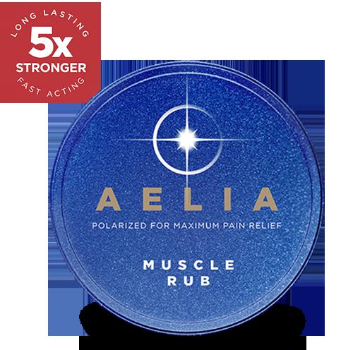 Aelia Muscle Rub Tin Sticker